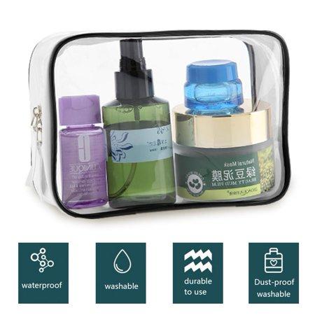 ba6bbbb8d6a3 Zerone Transparent PVC Bags Travel Organizer Clear Makeup Bag Cosmetic Bag  Wash Bags, Makeup Storage Bag, Storage Bag