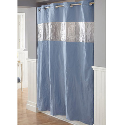 Hookless Vision Blue PEVA Shower Curtain