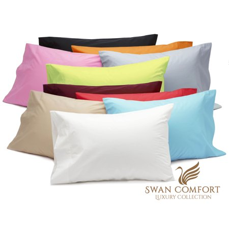 Swan Comfort Luxury Wrinkle & Fade Resistant Pillowcases - Standard, White ( Set of 2 )