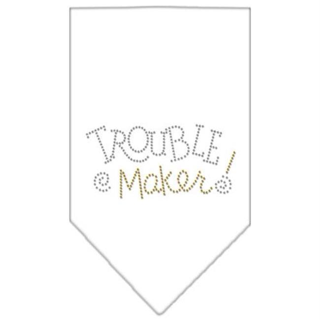 Trouble Maker Rhinestone Bandana White Small - image 1 of 1