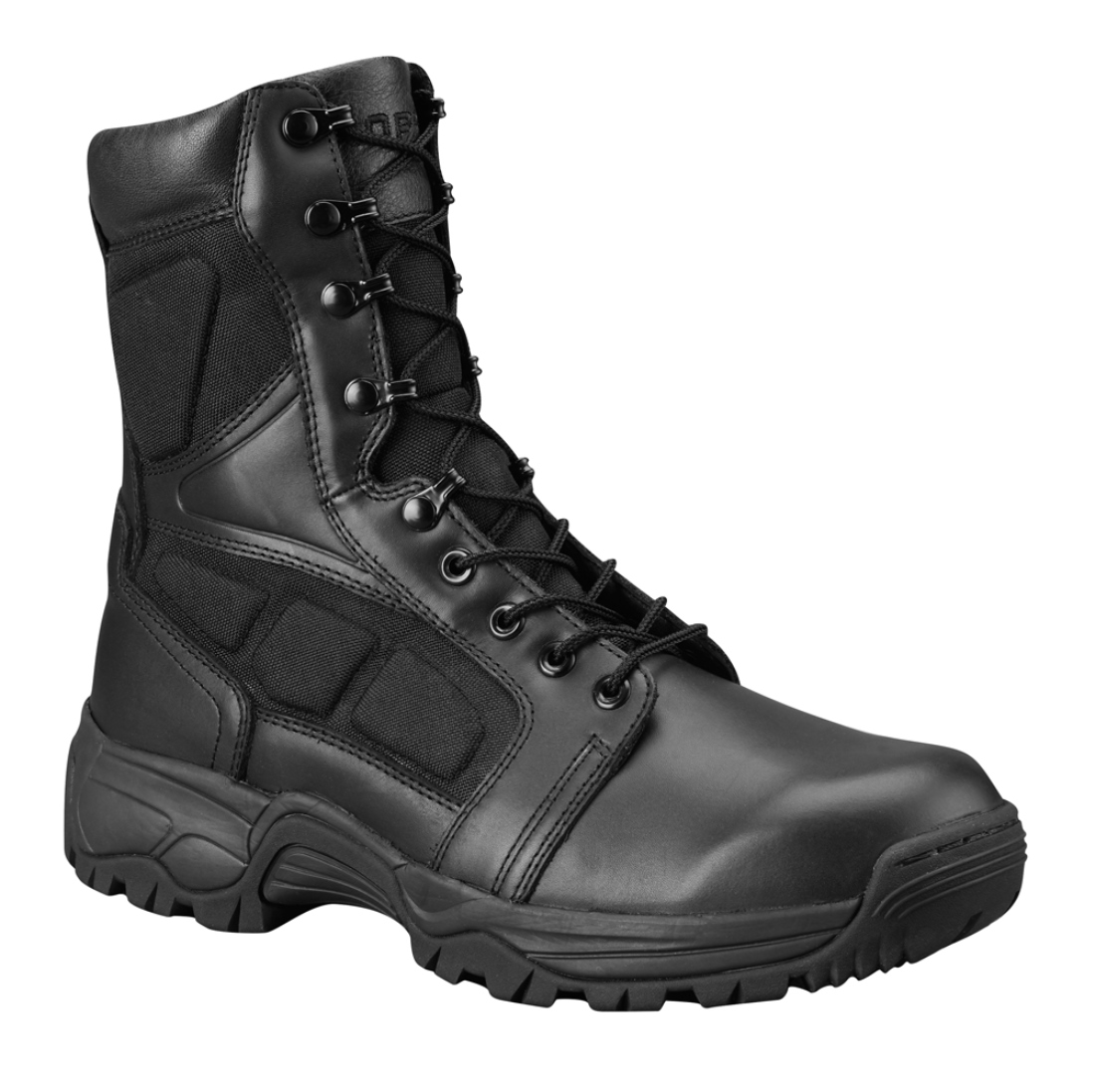 "Propper Mens Black Full Grain Leather Upper Series 200 8"" Side Zip Boots (6.5M)"