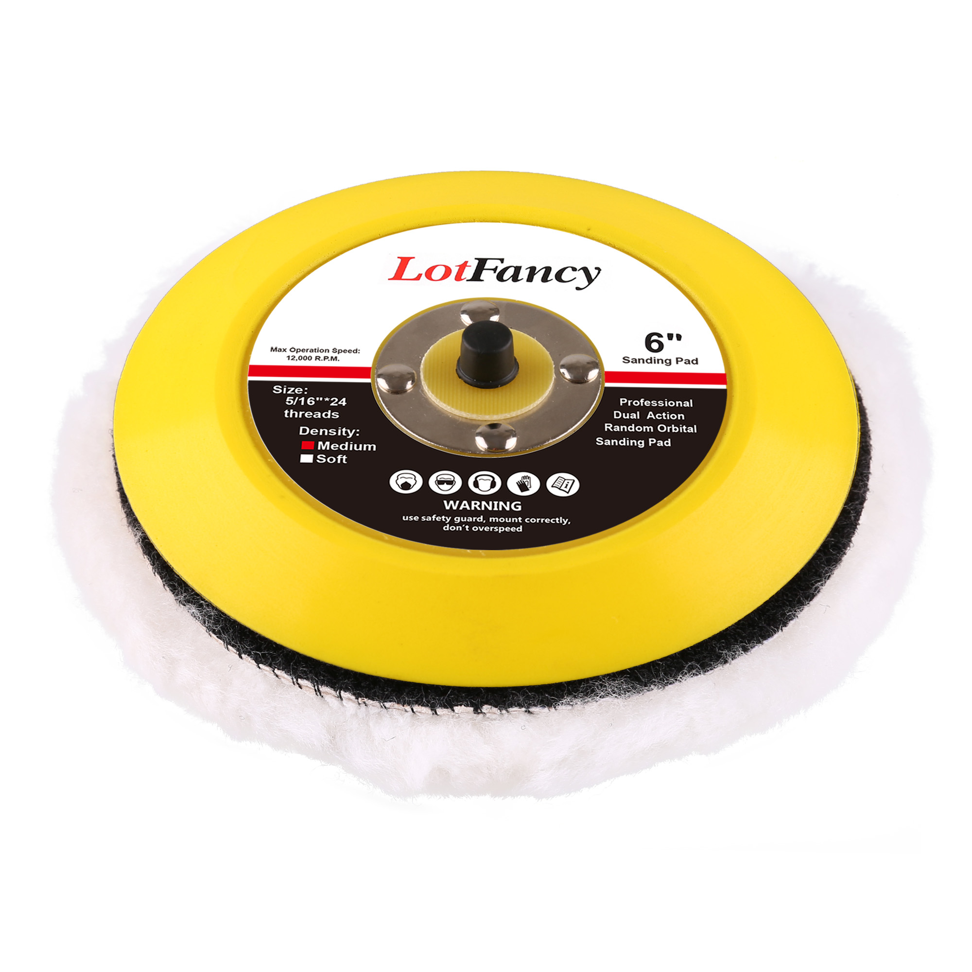2 PCS LotFancy 5-Inch Wool Buffing Pads Car Auto Hook and Loop Polishing Pads