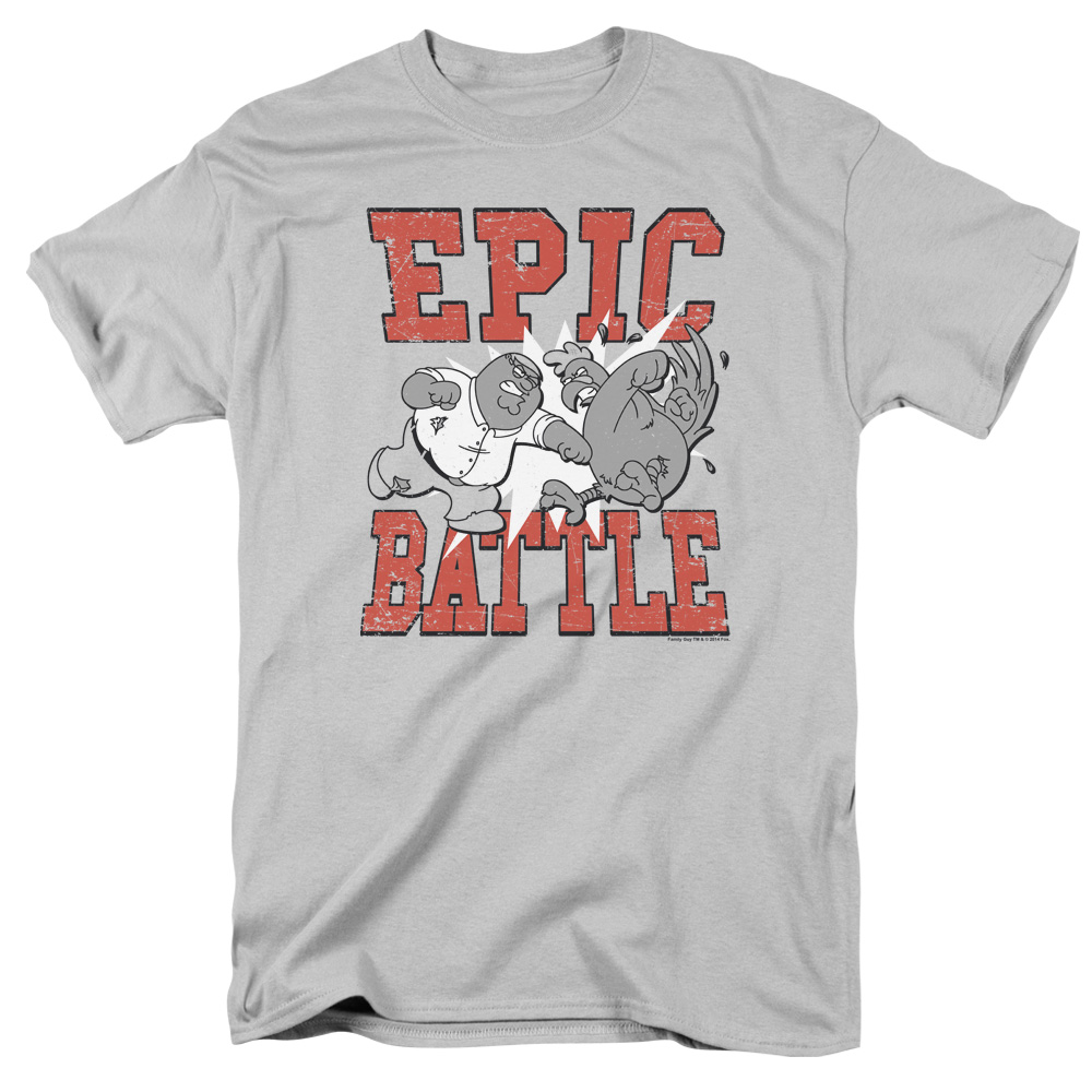 Family Guy Epic Battle Short Sleeve Shirt Adult