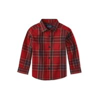The Children's Place Toddler Boy Plaid Button Down Shirt