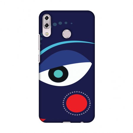 Asus Zenfone 5Z ZS620KL Case - Divine Goddess - Blue, Hard Plastic Back Cover, Slim Profile Cute Printed Designer Snap on Case with Screen Cleaning Kit (Goddess Blue)