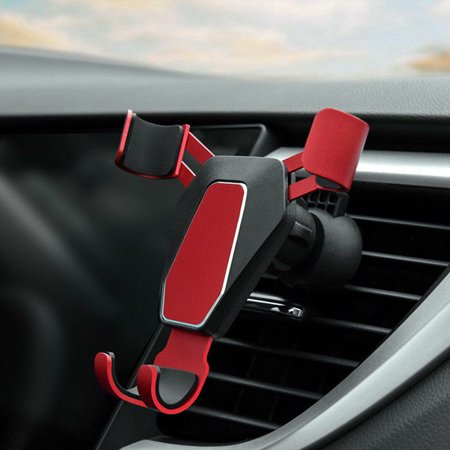 Car Phone Holder, EEEKit Auto-Clamping Gravity Car Air Vent Phone Holder Mount Cradle Universal Compatible with iPhone Xs Xr Xs Max X 8 Plus, Galaxy S10 S10E S10 Plus S9 S9 Plus, (Nike Air Max 90 Red And Grey)