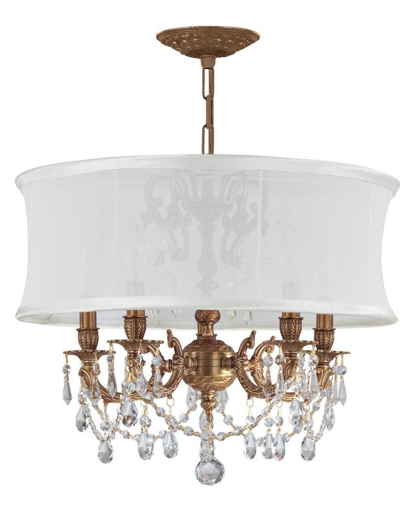 Crystorama 5535-AG-SMW-CLS Five Light Mini Chandeliers by Crystorama