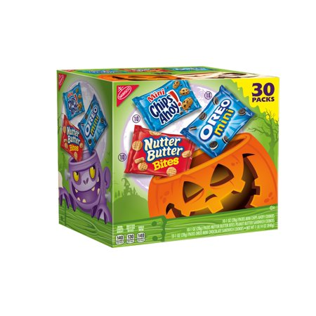 Nabisco Snack Pack Variety Cookies Mix With Oreo, Chips Ahoy! & Nutter Butter, 30.0 Oz