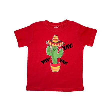 - Cactus with Sombrero Cinco De Mayo Toddler T-Shirt