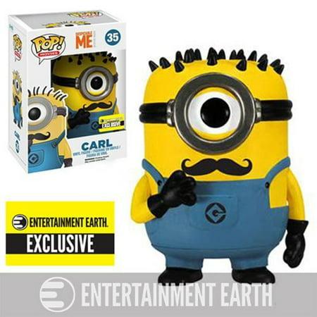POP Movies Despicable Me: Carl Vinyl Figure Mustache, Exclusive Mustache Carl Minion! By FunKo - Carl Minion