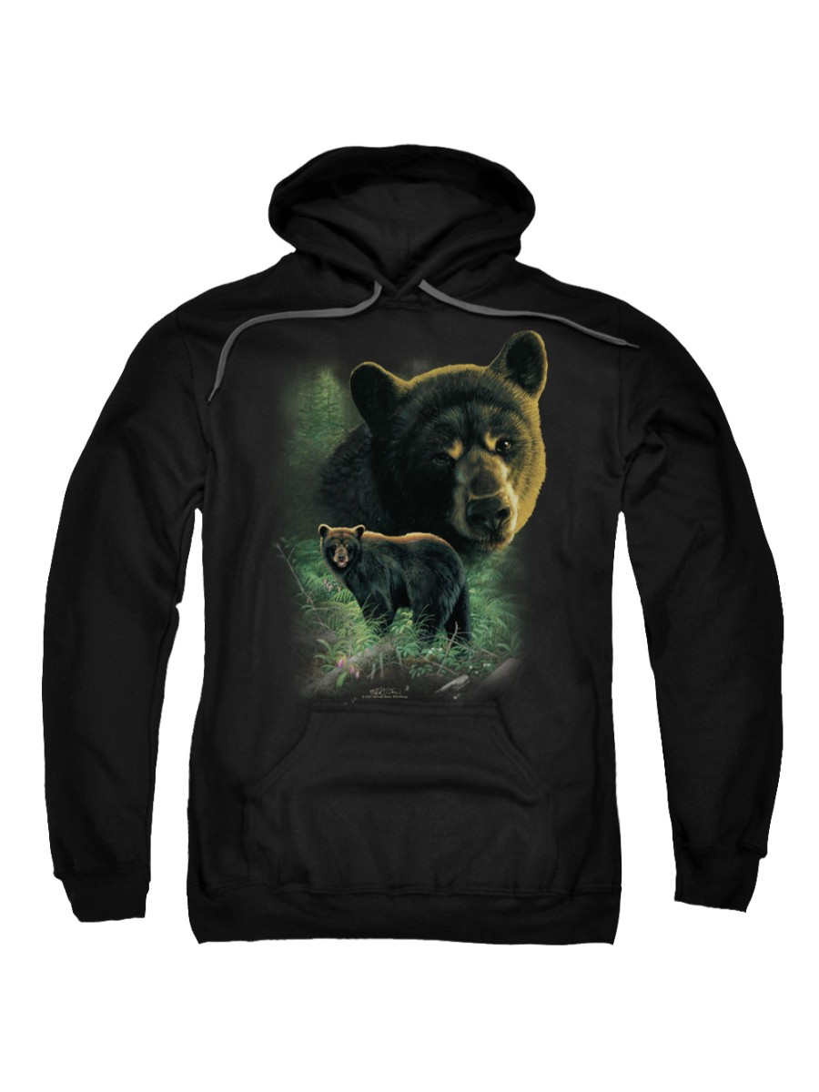 Messages all Black bear adult sweatshirt absolutely