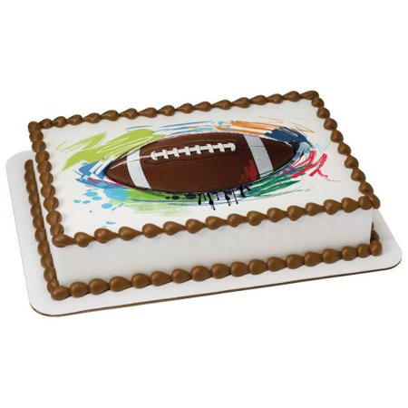 Football Edible Cake Topper Image