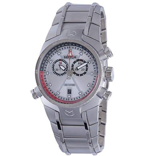 Sector Men's R3273695215 Chronograph Luminous Silver Dial...