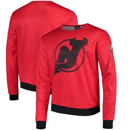 - New Jersey Devils Static Rain Printed Sweatshirt - Red