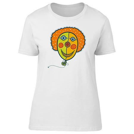 Crazy Clown (Crazy Clown Balloon Tee Women's -Image by)