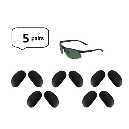 - AM Landen 5 pairs 15mmx8mm Black Snap-on Nose Pads Compatible to models of Ray-Ban and BOLON Sunglasses