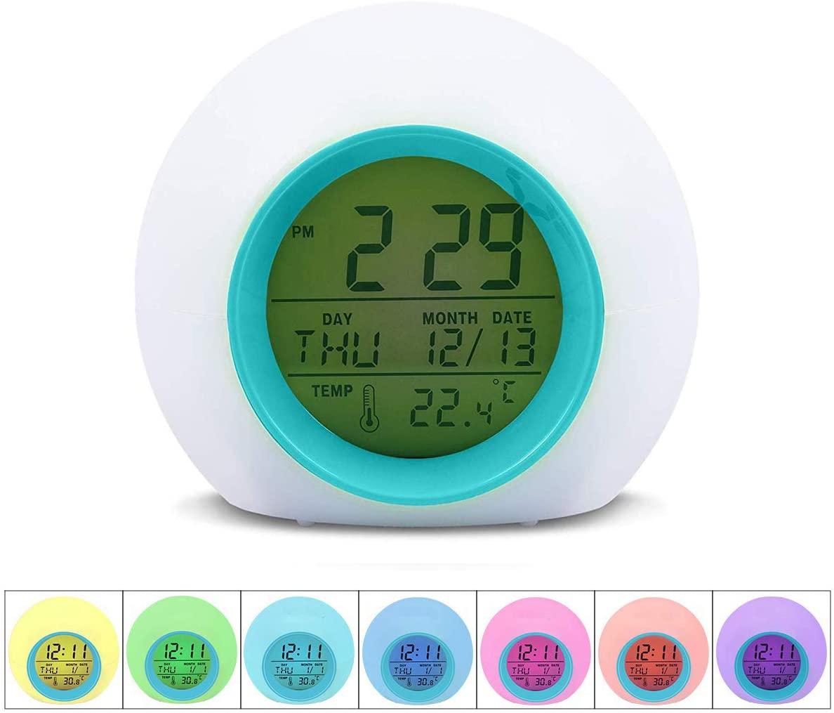 "Disney Frozen Digital Alarm Clock 3"" Kids Room Decor Month Date Time Day"