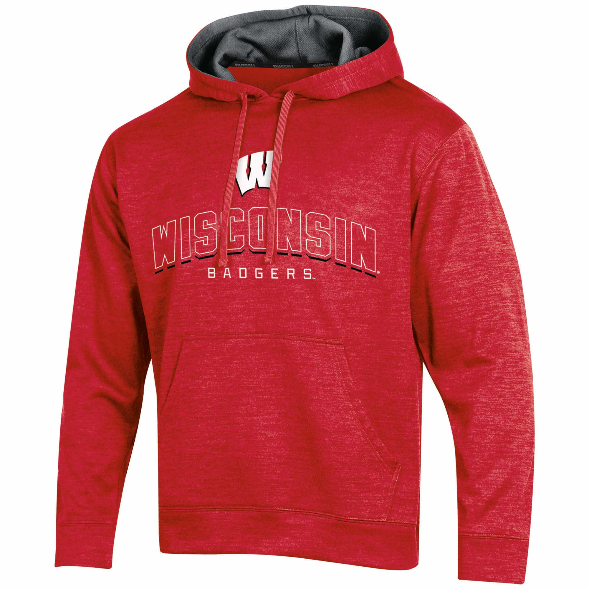 Men's Russell Red Wisconsin Badgers Synthetic Pullover Hoodie