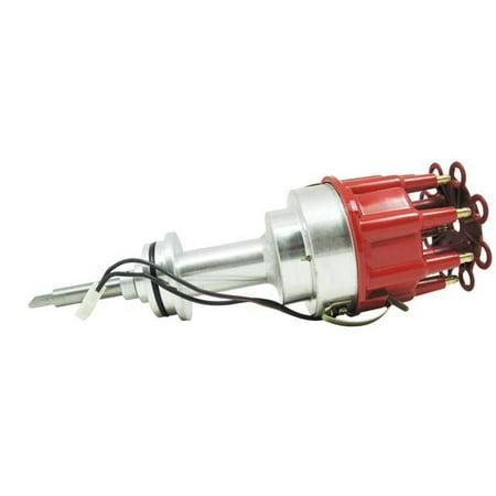 TSP Pro Billet Distributor-Chrysler/Dodge MOPAR 318,340, 360 SB V8 ENGINES, RED CAP JM6613R