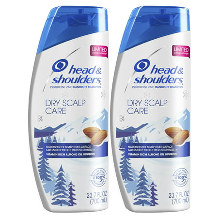 Head and Shoulders Dry Scalp Care Daily-Use Anti-Dandruff Shampoo, 23.7 fl oz Twin Pack