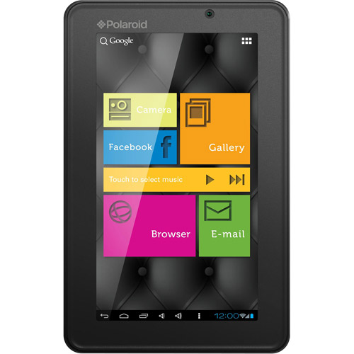 "Polaroid PMID705BK with WiFi 7"" Touchscreen Tablet PC Featuring Android 4.0 (Ice Cream Sandwich) Operating System, Black"