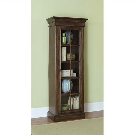 Hillsdale Pine Island Library Cabinet in Dark Pine