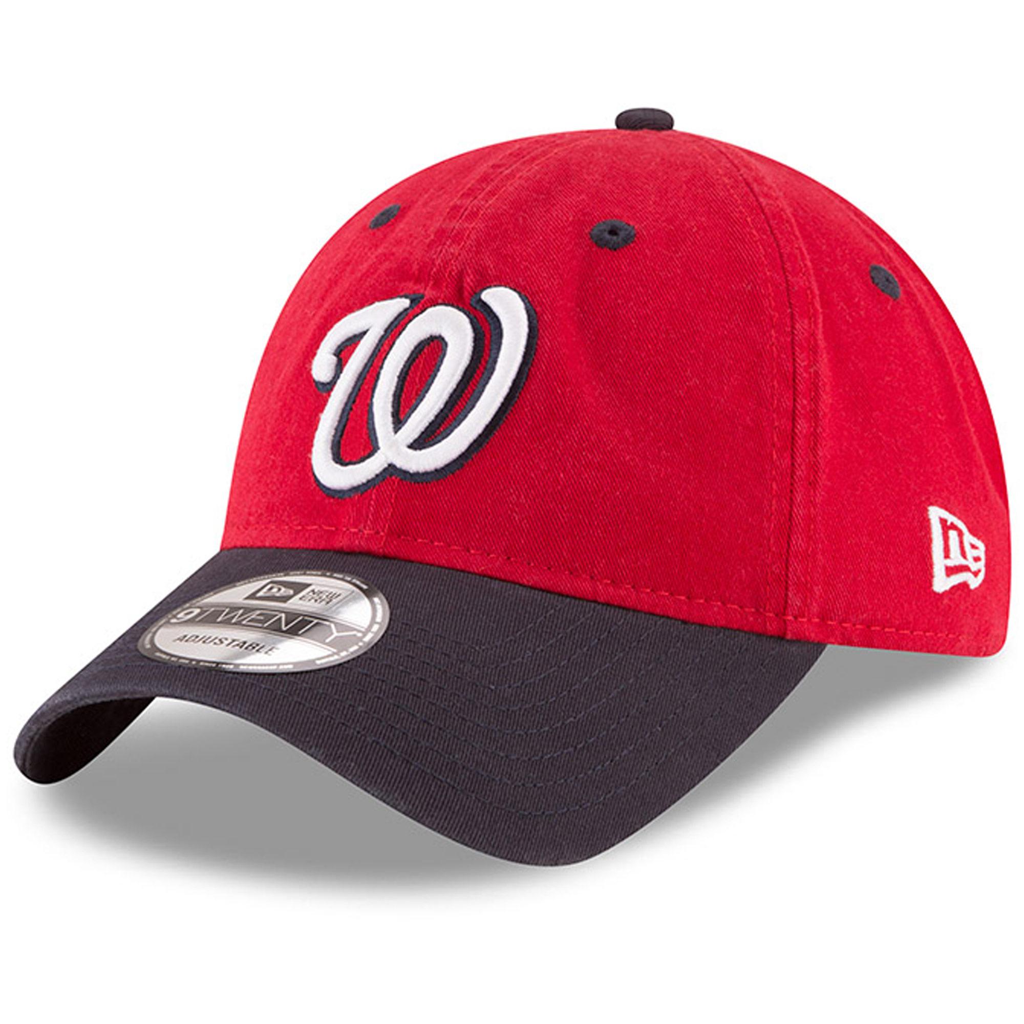 Washington Nationals New Era Alternate 2 Replica Core Classic 9TWENTY Adjustable Hat - Red/Navy - OSFA