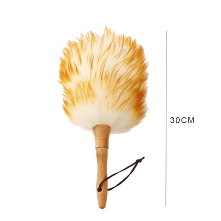Electronicheart Dust Mites Dusting Brush Wooden Handle Cleaning Screen Funiture Ceiling Fans Blinds Duster - image 3 of 6