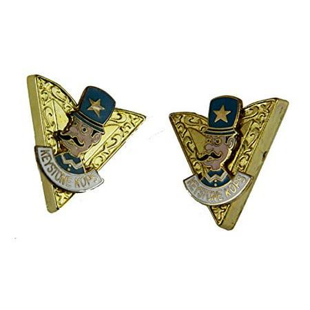 Keystone Kops Collar Tips Shrine Unit Key Stone Cops Shriner