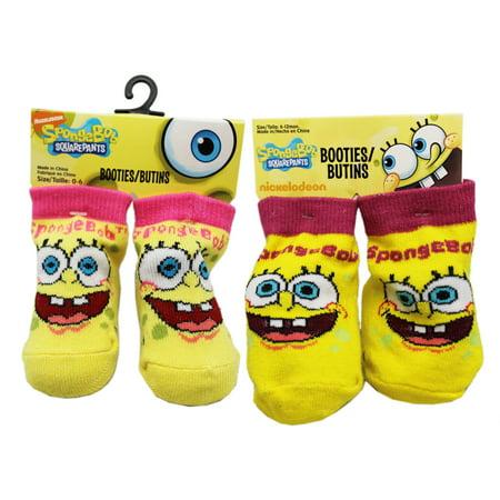 Spongebob Squarepants Smiling Baby Booties Set (6-12 Months, 2pc)](Spongebob Accessories)