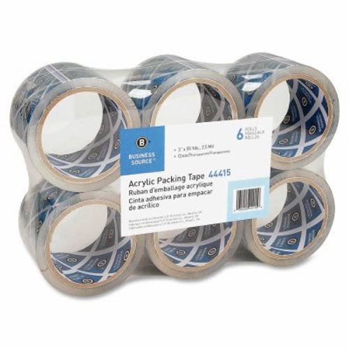 Business Source Heavy-dty Clear Acrylic Packaging Tape
