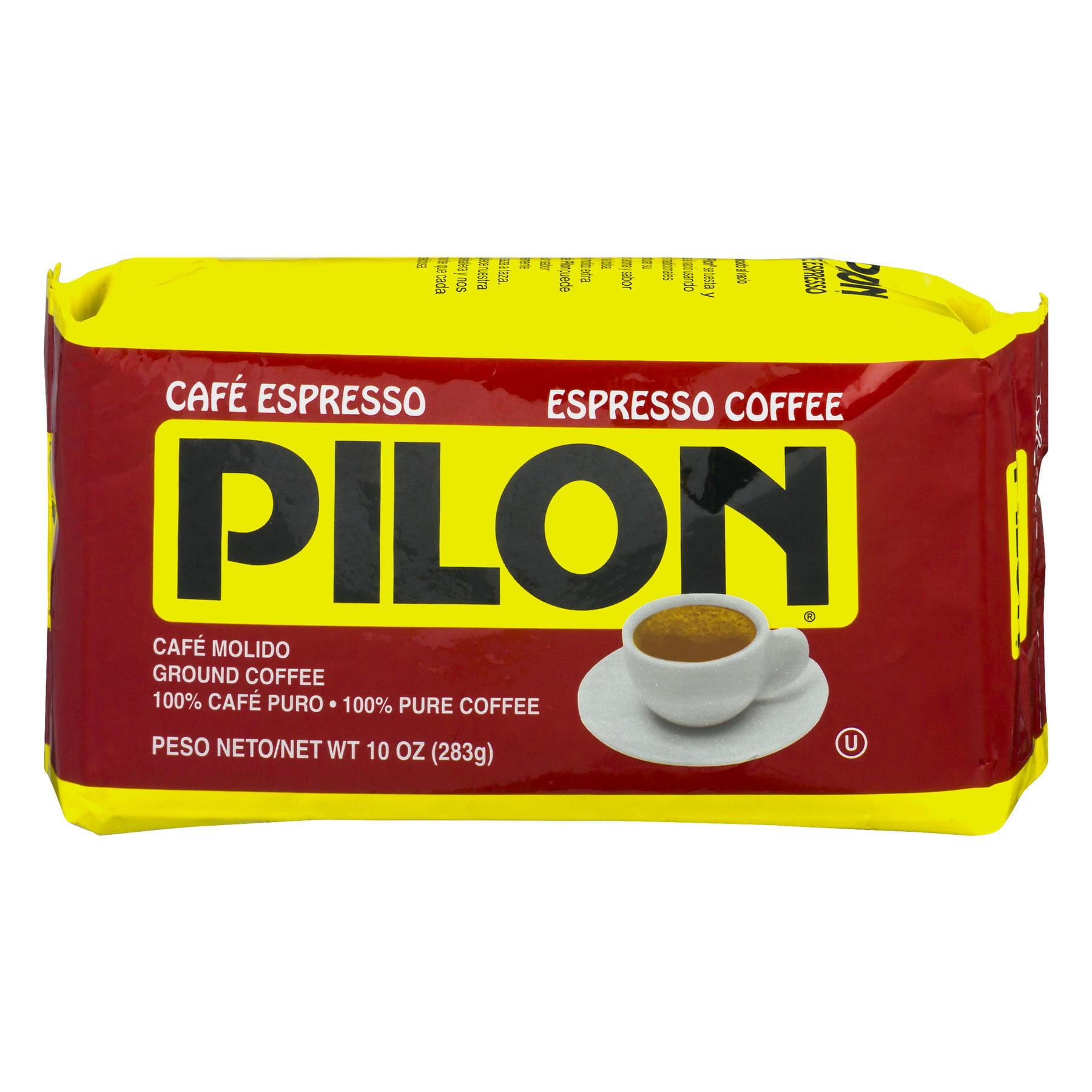 (2 Pack) Pilon Espresso Coffee Cafe Molido Ground Coffee, 10.0 OZ