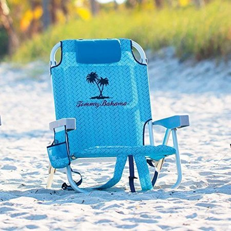 b694780a284492 Tommy Bahama 2016 Backpack Cooler Beach Chair (Blue Weave) with Storage  Pouch and Towel Bar Plus Carry On Insulated Lunch Pouch - Walmart.com