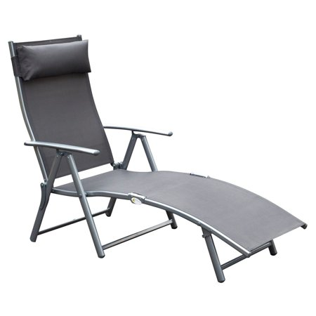 Outsunny Steel Sling Outdoor Folding Chaise Lounge Chair ()