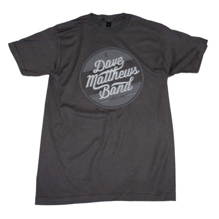 Dave Matthews Band Men's  Circle Logo Slim Fit T-shirt Charcoal