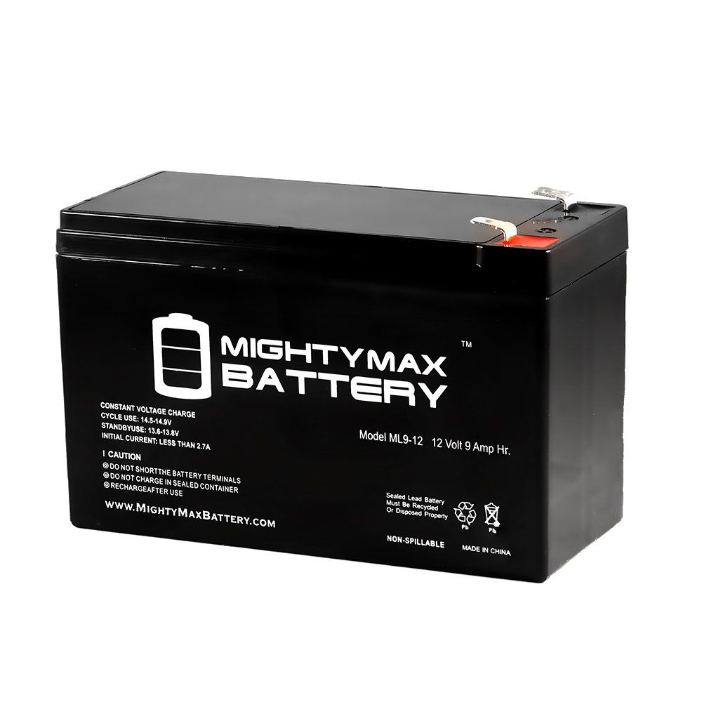 12V 9Ah SLA Battery Replaces Altered Slash Bat 250 Skateboard by Mighty Max Battery