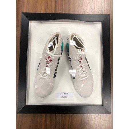 b75138c2cdc9 Mercedes Benz AMG F1 Lewis Hamilton Framed 2018 Replica White Puma Shoes  Boots - Walmart.com
