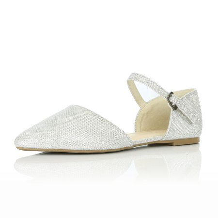 DailyShoes Flats with Buckle Strap and Casual Flat Shoes Ballet Ankle Pointed Fashion Soft Shallow Slip On Low Party Perfect for Day Or Nighttime