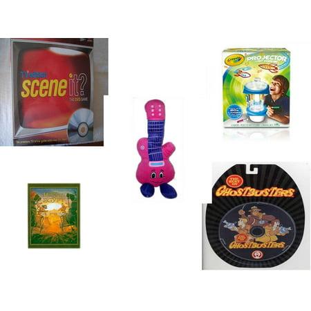 Children's Gift Bundle [5 Piece] -  Scene It TV Edition The DVD  - Crayola Sketcher Projector  - Jammin Pink Guitar  13