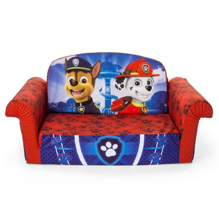 Marshmallow Furniture, Childrens 2 in 1 Flip Open Foam Sofa, Nickelodeon Paw Patrol, by Spin Master
