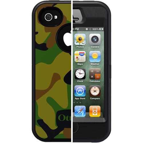 OtterBox APL2-I4SUN-K9-E4OTR iPhone 4/4S Military-Style Defender Series Camo Case, Jungle