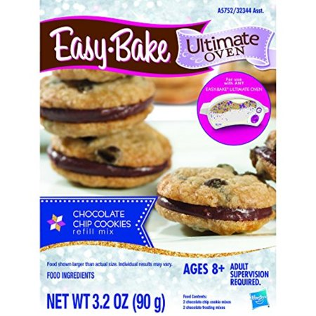 easy-bake ultimate oven chocolate chip cookies refill pack, 3.2 (Best Oven For Baking Cookies)