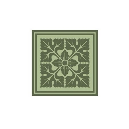 Tonal Woodblock In Green Iv Poster Print By Vision Studio  10 X 10