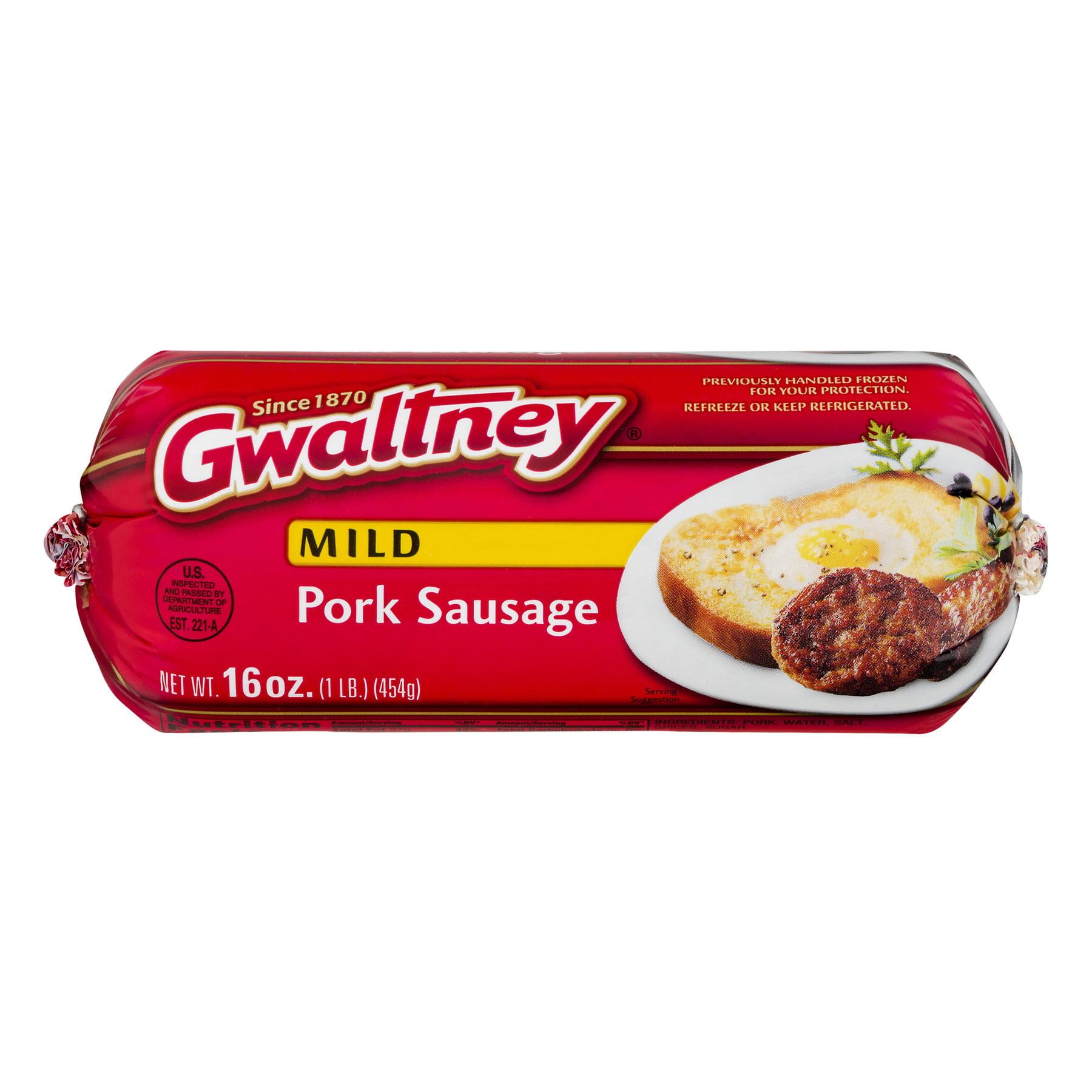 Gwaltney Pork Sausage Mild, 16.0 OZ