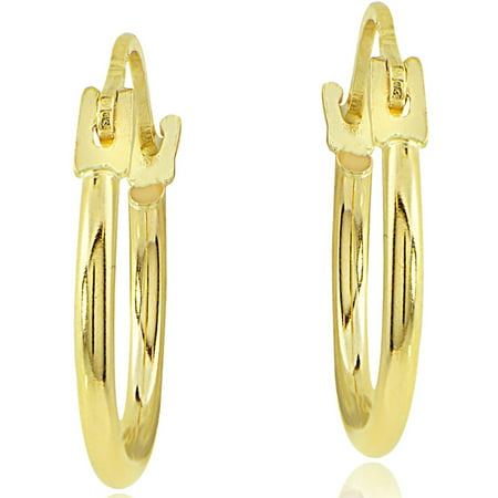 Neon Earrings Online (14kt Yellow Gold 12mm Hoop)