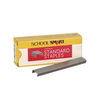 School Smart Standard Staples, 1/4 Inch, Box of 5000