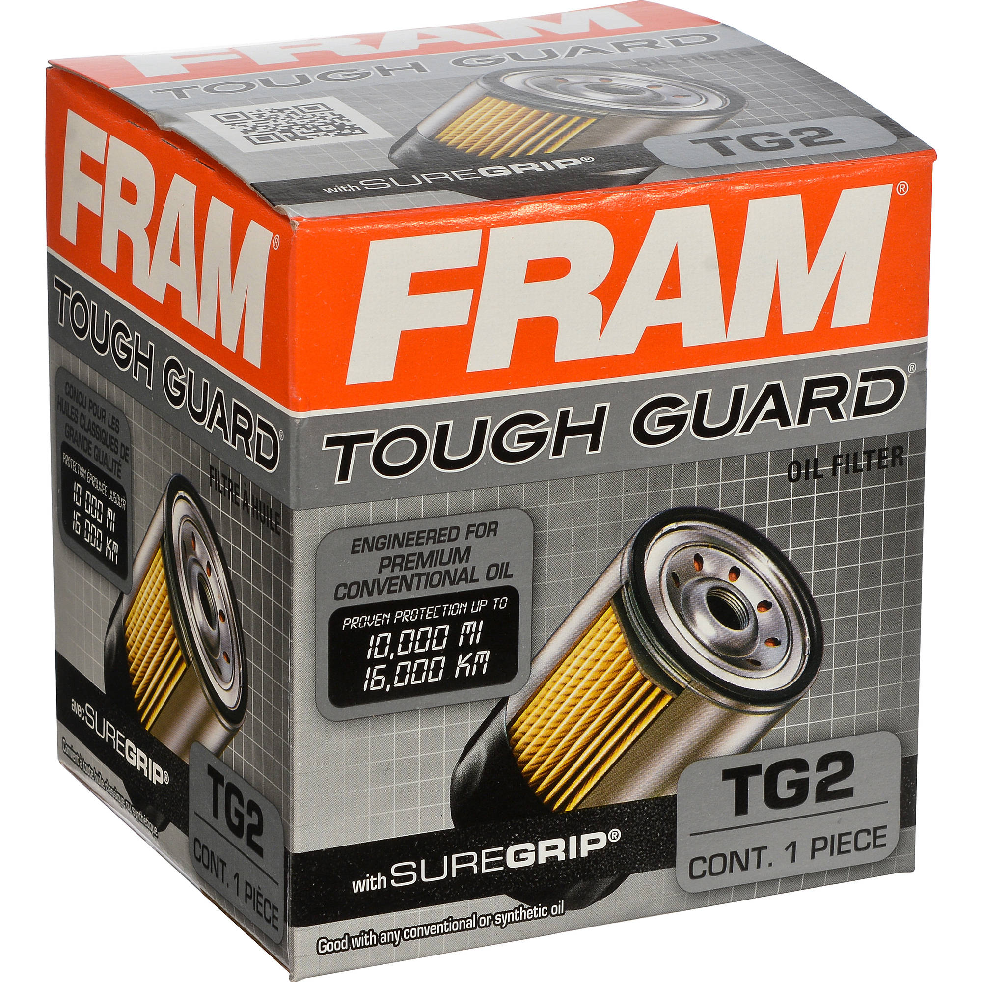FRAM Tough Guard Oil Filter, TG2