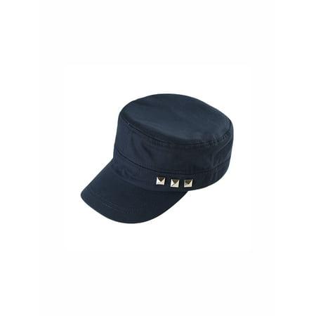 Unique Bargains Unisex's Adjustable Flat Top Peaked Vintage Baseball Cotton Solid Cadet Cap](Vintage Baseball Gifts)