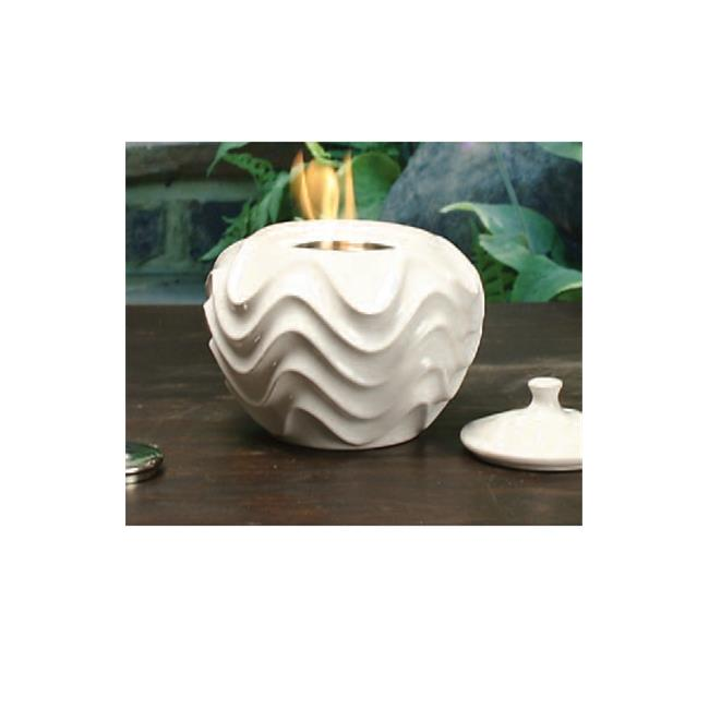 Marshall Home MBS-42-4-1350N 9 W x 6 H In., White Wave Ceramic Firepot