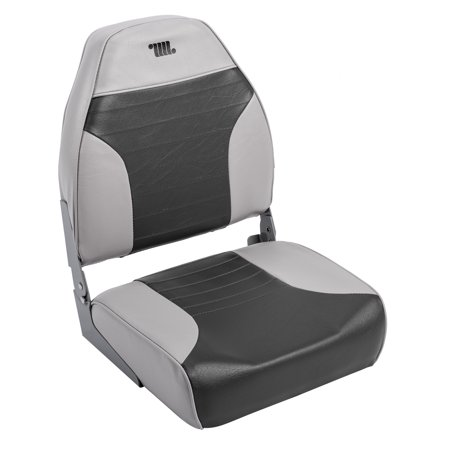 Wise 8WD588PLS-664 Standard High Back Boat Seat, Grey / Charcoal